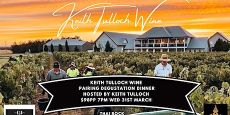 Keith Tulloch Wine Pairing Degustation Dinner - Hosted By Keith Tulloch tickets