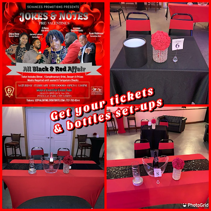5 Chances Jokes & Notes Pre-Valentines All Black & Red Affair image