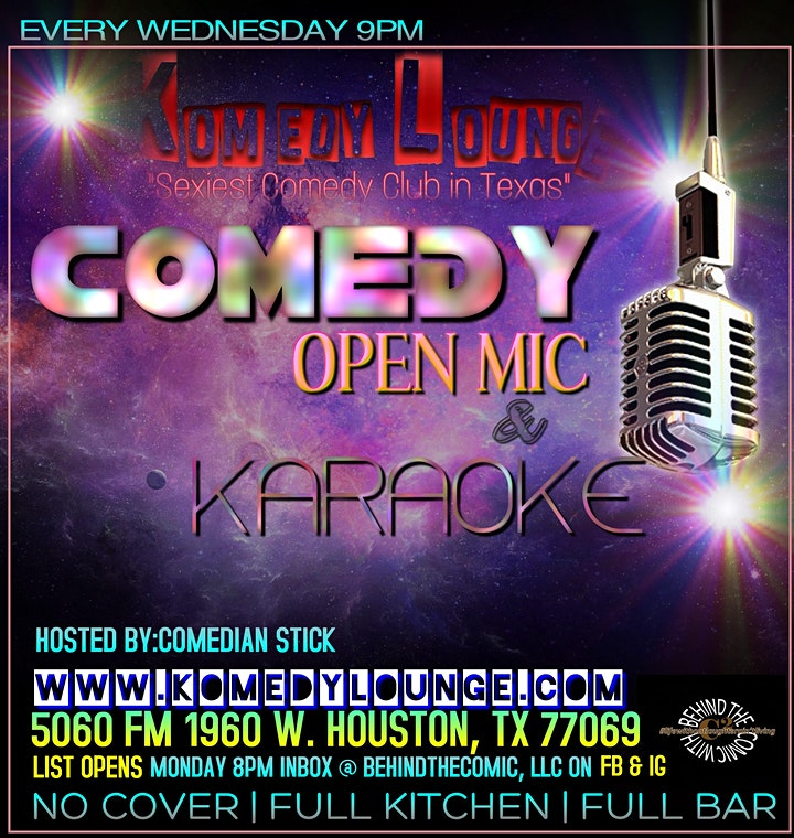 Wild Out Wednesday Open Mic Komedy & Karaoke - Free Event image