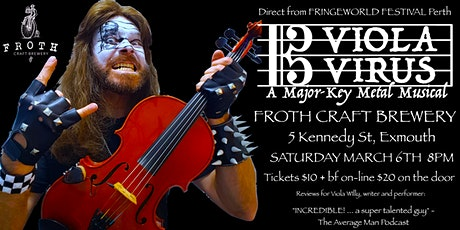 Viola Virus a Major-Key Metal Musical at Froth Craft Brewery, Exmouth tickets