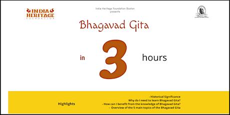 Bhagavad Gita in 3 tickets