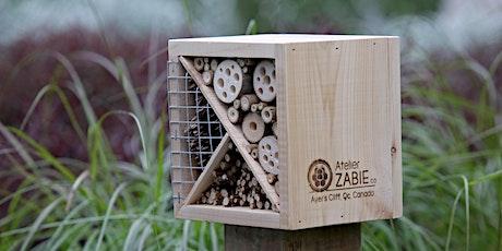 Atelier de fabrication d'hôtels à insectes billets