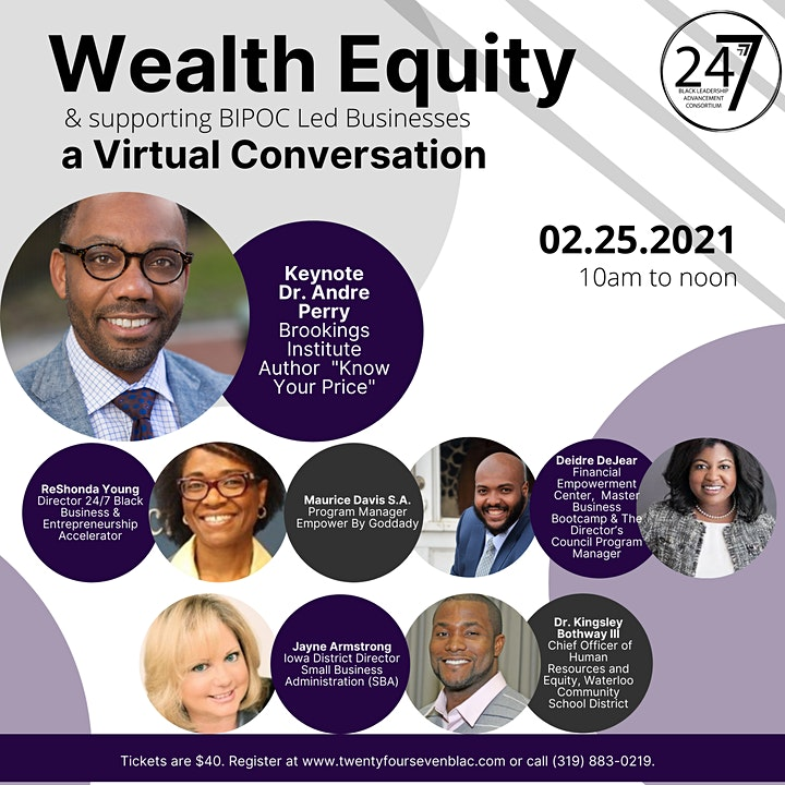 Wealth Equity & supporting BIPOC Led Businesses featuring Dr. Andre Perry image