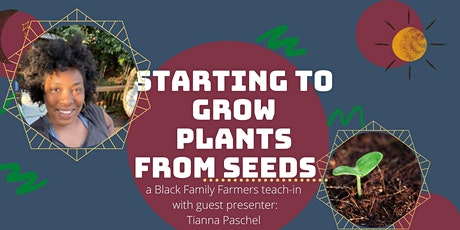 Starting plants from seed tickets