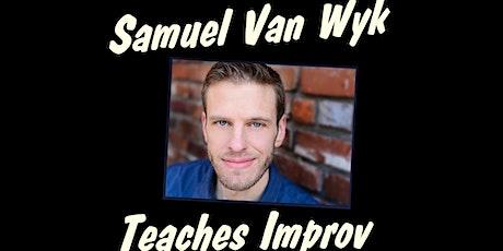 LONG FORM IMPROV COMEDY with Sam Van Wyk ONLINE Saturdays 2pm March 2021 tickets