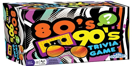 80s & 90s Trivia  Fundraiser (live host) via Zoom (EB) tickets