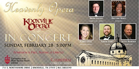 """Cathedral Concert: Knoxville Opera """"Heavenly Opera"""" tickets"""