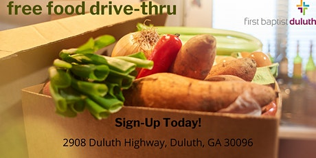 Free Food Boxes Family Drive Thru @ First Baptist Church Duluth tickets