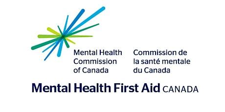 Mental Health First Aid (MHFA) - Standard (VIRTUAL/ONLINE) tickets