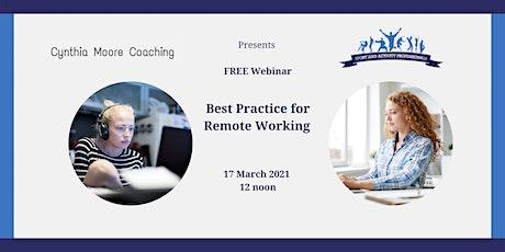 Best Practice for Remote Working biglietti