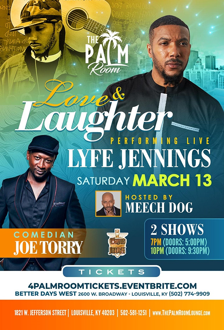 LYFE JENNINGS & JOE TORRY - LIVE @ THE PALM ROOM image