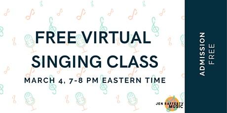 Free Virtual Singing Class on Zoom tickets