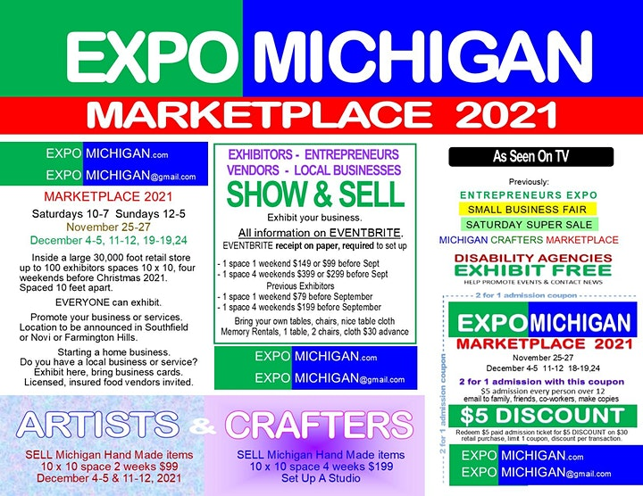 Entrepreneurs Expo - 100 exhibitors, weekends before Christmas 2021 image
