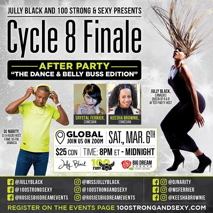 Jully Black and 100 Strong & Sexy presents Cycle 8 After Party! image