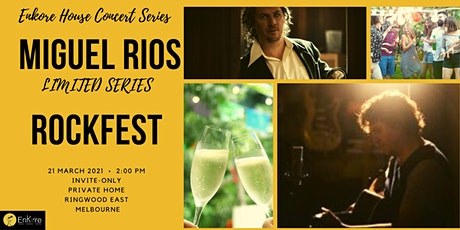 Celebrate the end of Summer with Miguel Rios in an eclectic #houseconcert tickets