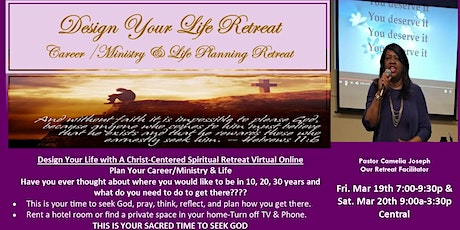 """""""Design Your Life""""  Christ-Centered Spiritual Retreat to Plan Your Life tickets"""