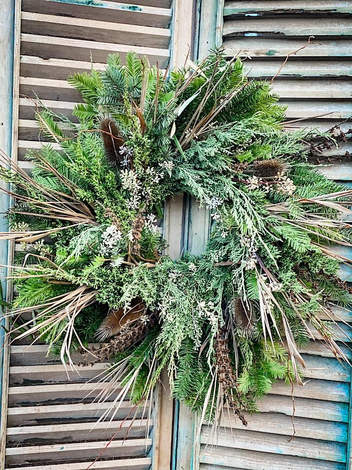 Forever Bloom Farm  - Holiday Wreath Workshop – Pescadero, CA – 12/04/21 image