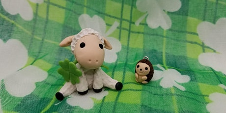 Polymer Clay Art: St. Patrick's Day Lamb and Hedgehog tickets