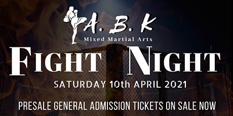 A.B.K Mixed Martial Arts Fight Night  tickets