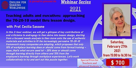Teaching adults and executives: approaching the 70-20-10 model thru lesson entradas