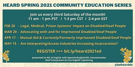 HEARD Spring 2021 Community Education Series tickets