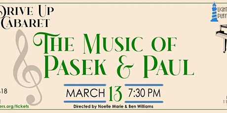 The Music of Pasek and Paul Drive In General Tickets tickets