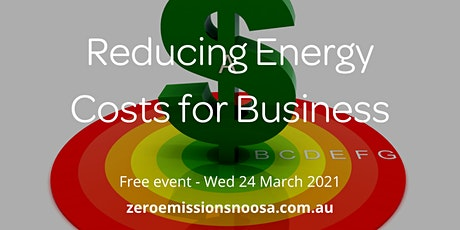 Reducing Energy Costs for Business Forum tickets