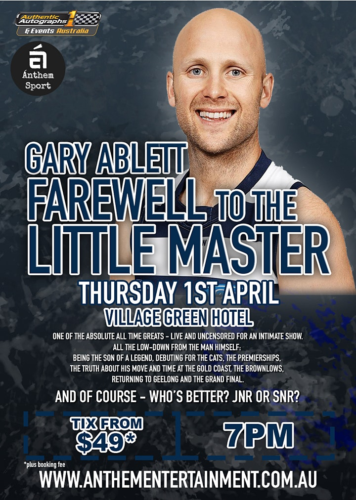 Gary Ablett Farewell to the 'Little Master' LIVE show! image