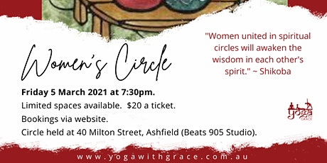 Women's Circle in Ashfield (Sharing circle, Gentle Yoga & Meditation) tickets