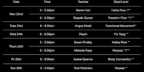 EUYS Yoga Classes Week  7 : 22nd - 28th February tickets