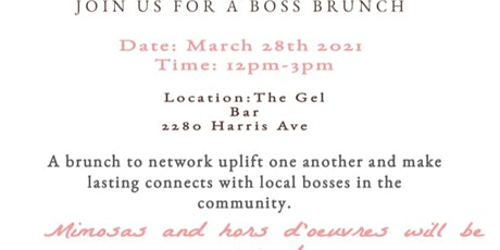 Boss Brunch & Blossom tickets