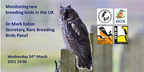 Monitoring rare breeding birds in the UK, by Dr Mark Eaton tickets