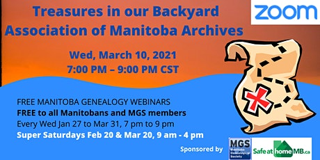 11- Association of Manitoba Archives - treasures in our backyard tickets