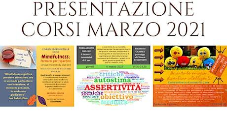 Presentazione CORSI di MARZO tickets