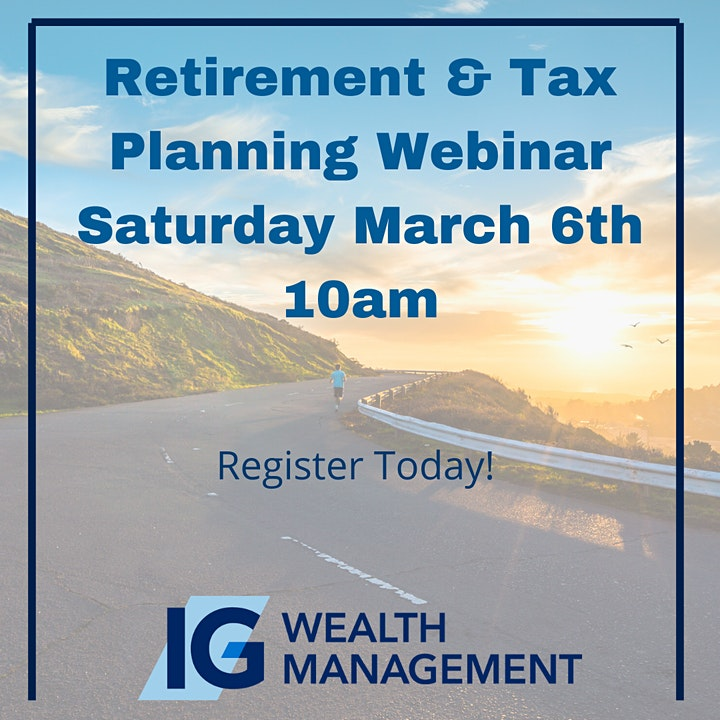 Retirement & Tax Planning Webinar image
