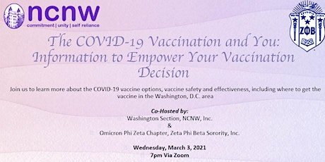 The COVID-19 Vaccination and You: Information to Empower Decision tickets