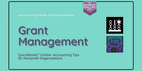 Nonprofit Grant Management for QuickBooks Online Users tickets