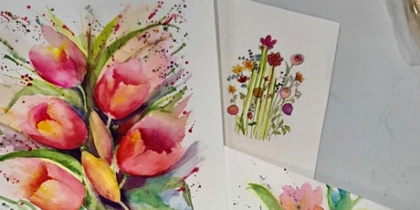 10a-12 Painting Fun Flowers in Watercolor - Jean Anderson Zoom Class tickets