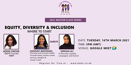 Equity, Diversity & Inclusion - Where To Start tickets