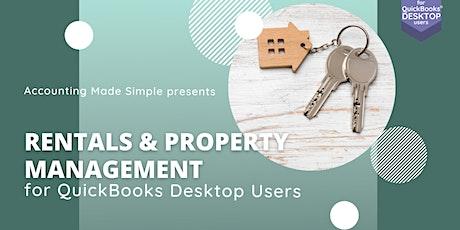 Rentals & Property Management Workshop for QuickBooks Desktop Users tickets