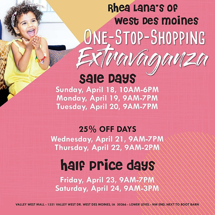 Rhea Lana's of West Des Moines Spring & Summer Children's Consignment Sale image