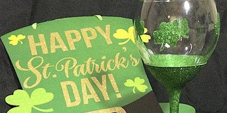 St Patrick's Glitter Wine Glass tickets