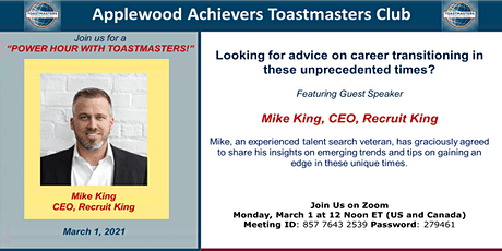 Featuring Guest Speaker Mike King, CEO, Recruit King tickets