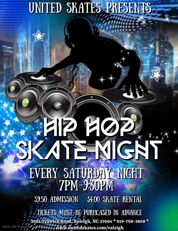Saturday Night Hip Hop Skate 7pm-9:30pm image