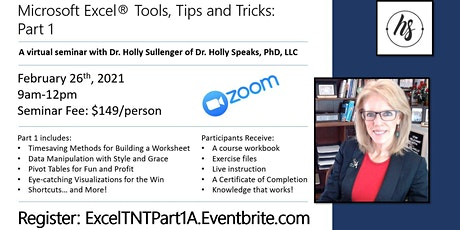 Excel Tools, Tips and Tricks: Part 1 tickets