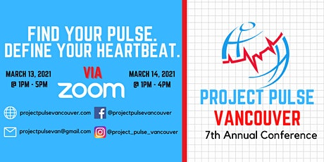 Project Pulse Vancouver 2021 Annual Conference REGISTRATION tickets