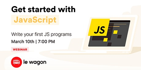 [Webinar] JavaScript for beginners tickets