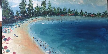 """Rose and Renoir "" Paint and sip classes by the sea - Avoca Beach- tickets"