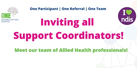 Support Coordinators - One Rehabilitation Service Event tickets