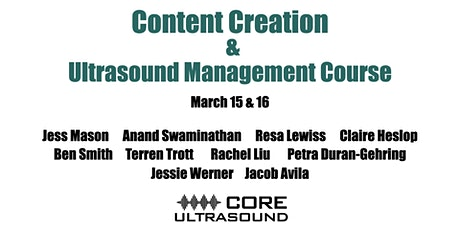 Castlefest 2021 - Content Creation and Ultrasound Management Course tickets